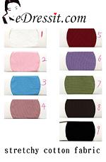 eDressit dehnbar Baumwolle Farbemuster (60100102A)