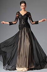 eDressit 2014 New Black Sexy V-cut Evening Dress Prom Dress (02146900)