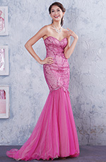 Strapless Sweetheart Fully Top Beaded Mermaid Prom Gown Graduation Dress (C36145601)