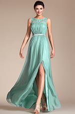 Carlyna 2014 New Sleeveless Lace Top A-line Evening Dress/Prom Gown (C00145204)
