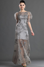 eDressit Elegant Sleeves Gray Evening Dress (02121008)