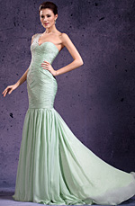 eDressit New Adorable One Shoulder & Sweetheart Light Green Evening Dress Prom Gown (02132004)