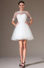 eDressit 2014 Neu Spitze Ausschnitt Kurz Hochzeitkleid Brautkleid (01140107)