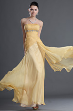 eDressit Gorgeous Yellow Strapless Evening Dress (00127403)