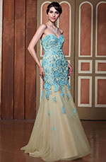 Gorgeous Strapless Lace Applique Prom Gown Graduation Ball Dress (C36144605)