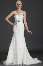 eDressit Hot Style V-cut Lace Wedding Gown Prom Gown (01120807)