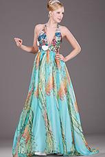 eDressit Halter floral Seide Chiffon Pailleten Abendkleid (00091905)