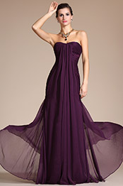 Carlyna 2014 New Graceful Purple Kim Kardashian Evening Dress Bridesmaid Dress (C00094706)