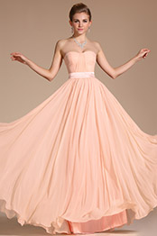 Carlyna 2014 New Simple Elegant Light Pink Strapless Evening Dress Bridesmaid Dress (C00117301)