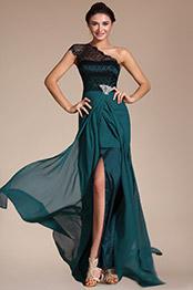 Carlyna 2014 Neu Elegant  Spitze Schulter Hohe Spalt Abendkleid (C00131605)