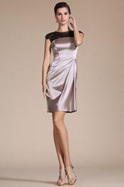 Carlyna 2014 Neu Perlen Schwarz Lace Cocktail Kleid/ Kleid der Mutter von Braut/Tagkleid(C04140246)