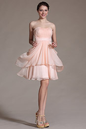 Carlyna 2014 New Sweetheart Pink Pleated Bridesmaid Dress Cocktail Dress (C07140601)