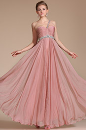 Carlyna 2014 New One Shoulder Beadings Evening Dress/Bridesmaid Dress(C36141601)