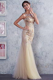 Sleeveless Beaded Top Sexy V Back Mermaid Homecoming Dress Prom Gown (C36145314)