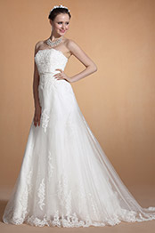 Carlyna 2014 New Strapless Lace Empire Waistline Wedding Gown (C37142507)
