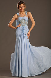 eDressit 2013 P/E Fashion Show Fleurs à La Main Bleu Robe de Soirée Robe de Bal (F00133332)