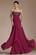 Carlyna 2014 New Stunning Strapless Hand-sewn Appliques Evening Dress(C00145712)