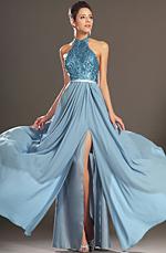 eDressit Nouveautés Charmante Paillettes Bleu Robe de Soirée (00130132)