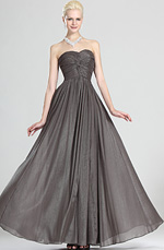 eDressit Grace Strapless Gray Evening Dress (00124008)
