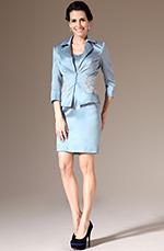 eDressit 2014  Nouveauté Bleu Claire Satin Jacket 2 Pièce Robe Mère de Mariée(26143632)