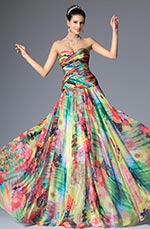 Fantastic Strapless Sweetheart Neck Printed Evening Dress (02147768)