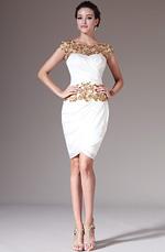 eDressit 2014 New Golden Lace Top Sheath Knee-Length Formal Dress (04141514)
