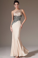 eDressit 2014 New Champagne One-Shoulder Sheath Evening Dress(00142314)