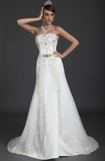 eDressit Amazing Beaded Strapless Wedding Gown (01120507)