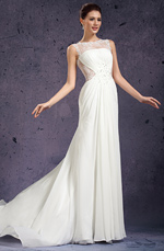 eDressit 2013 New Round Neckline Delicated Lace Appliques Wedding Gown (01130907)