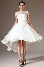eDressit 2014 Nouveauté Top Transparent  Manches Courtes Haut-Bas Robe de Mariée (01140207)