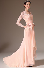 eDressit 2014 New Pink Lace Top Long Sleeves Mother of the Bride Dress (26145601)