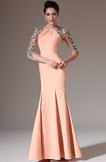 eDressit 2014 New Sheer Back & Sleeves Orange Evening Dress(02141410)