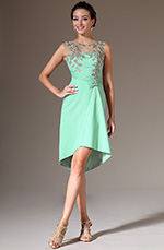eDressit 2014 New Turquoise Embroidery High-Low Cocktail Party Dress (04142204)