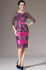 eDressit 2014 Neu Pink Knie Lang Spitze  Brautmutter Kleid (26144012)