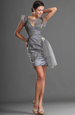 eDressit Lovely V-cut Gray Cocktail Dress Party Dress (04125308)