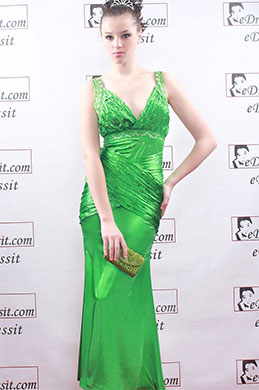 eDressit Green Deep V-Cut Sexy Ball Prom Gown Evening Dress (00067704)