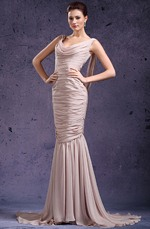 eDressit  De Moda Drapeado Escote Vestido de Fiesta Largo (02131846)