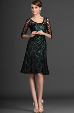 eDressit Charming Overlace Sleeves Mother of the Bride Dress (26120904)