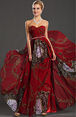 eDressit New Strapless Classical Printed Fabric Evening Dress (00129168)