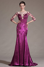 eDressit 2014 New Gorgeous Hot Pink Lace Evening Gown (02145612)