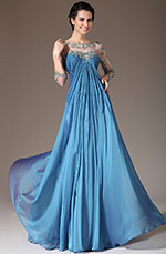 eDressit 2014 New Sheer Top Embroidered Empire Mother of the Bride Dress (26141005)