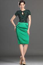 eDressit  Mangas Cortas Vestido de Dia Vestido de Traje de Trabajo (03131004)