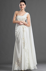 eDressit Charming One Shoulder Pleated Evening Dress (01121307)