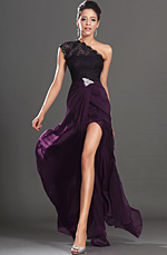 eDressit New Elegant Once Lace Shoulder High split Evening Dress (00131606)