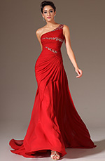 eDressit 2014 New Red Beaded One-Shoulder Lace Back Long Evening Gown (02144602)