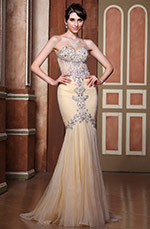 Mermaid Delicate Beadings Sweetheart Neckline Evening Dress (C36144214)