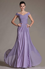 Carlyna 2014 Neu Romantisch V-Cut Abendkleid Ballkleid (C00144106)