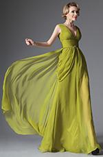 eDressit 2014 Nouveauté V-décolleté Verte Robe de Soirée Longue  (00147555)