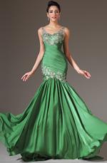 eDressit 2014 Novedad Verde Escote en V Encaje Arriba Vestido de Noche (02141118)