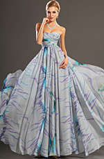 eDressit New Gorgeous Printed Strapless Evening Dress (00107506)